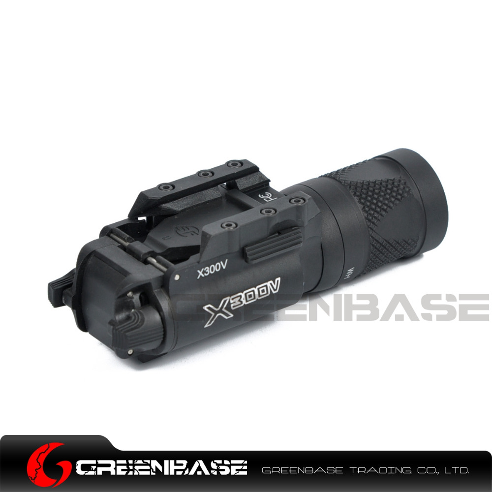 Greenbase X300V Light Dual-Output Pistol Flashlight Weapon Strobe Light 500 Lumens White Light Airsoft Hunting Shooting x300v led flashlight black tan color 150 lumens white light for hunting shooting cl15 0070
