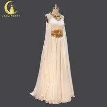 Hình thật Bán Đính Hạt Vàng Dây Voan Tầng Chiều Dài với Mũi Đầm Dự Tiệc Trang Trọng Đầm Váy Đầm Dạ 2020
