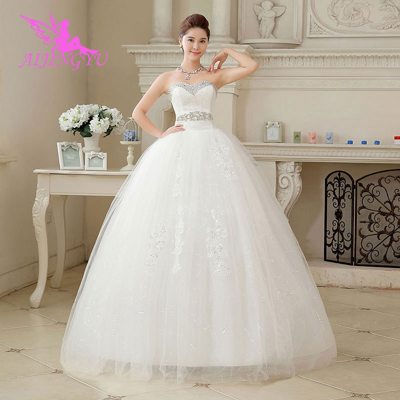 AIJINGYU 2018 Princess Free Shipping New Hot Selling Cheap Ball Gown Lace Up Back Formal Bride Dresses Wedding Dress WU161