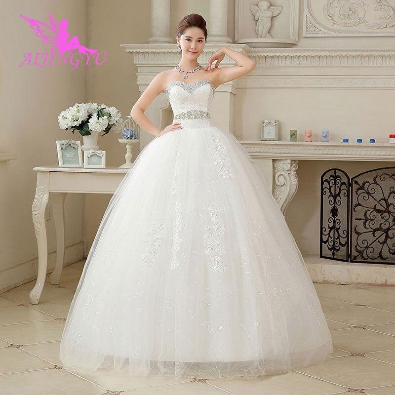 AIJINGYU 2018 Princess Free Shipping New Hot Selling Cheap Ball Gown Lace Up Back Formal Bride Dresses Wedding Dress WU161