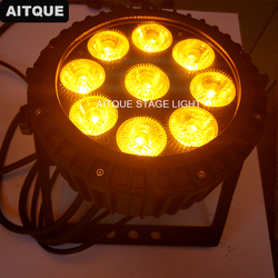 4 lot profesjonalne światła sceniczne par led spotlight 9x15 w led par rgbwa płaskie ip65 wodoodporny par można światła Oświetlenie sceniczne Lampy i oświetlenie -
