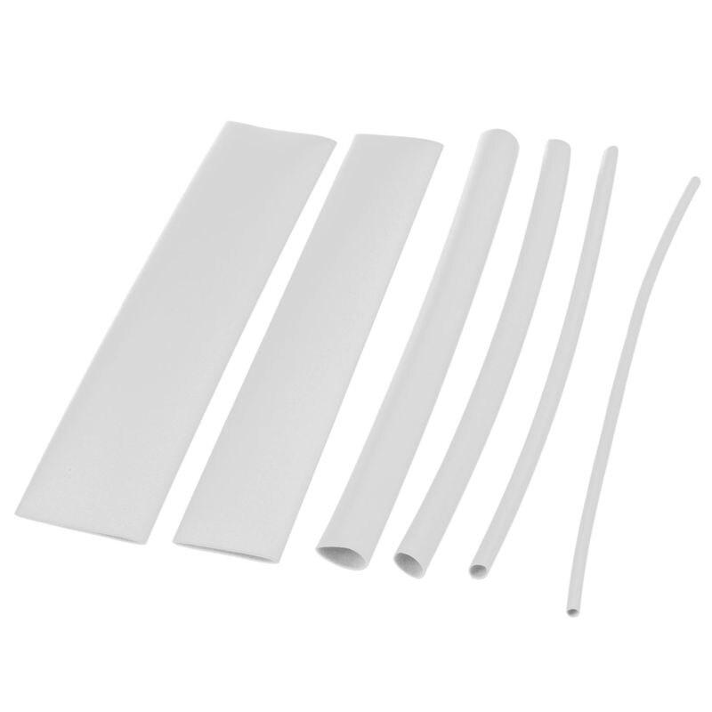 100 pièces tube thermorétractable tube thermorétractable couleur: blanc