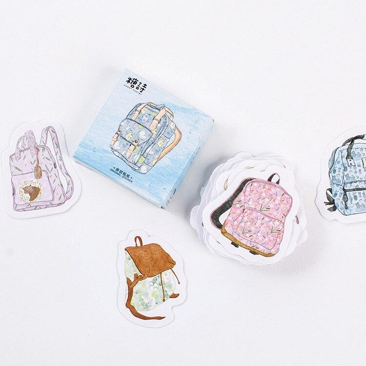 45 Pcs/pack Go To School Mini Paper Label Stickers Diy Diary Album Stick Decor Stationery Stickers