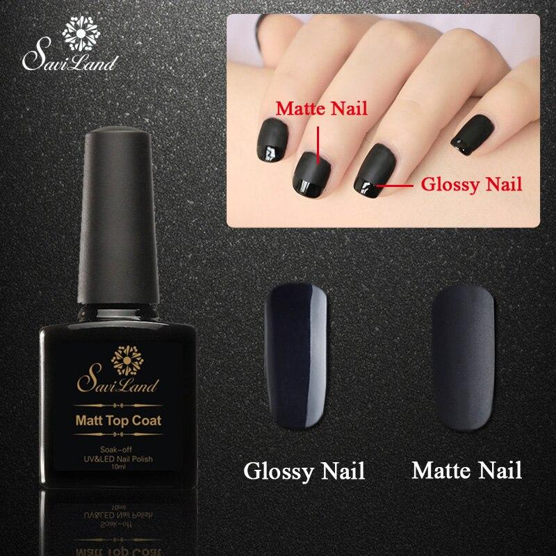 Matte Black Gel Nail Polish: Saviland Matt Top Coat +black Nail Gel UV Gel Polish 10ml