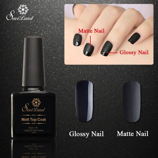 Saviland Matt Top Coat +black Nail Gel UV Gel Polish 10ml Matte Top ...