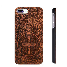 Wood Super Slim Phone Case For iPhone 8 Case 8 Plus Plastic Wood Carved Phone