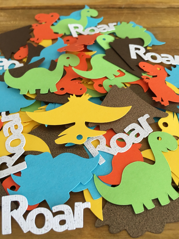 The Roar Dinosaur Theme Baby Boy Birthday Party Corlorful Cute Confetti Decoration