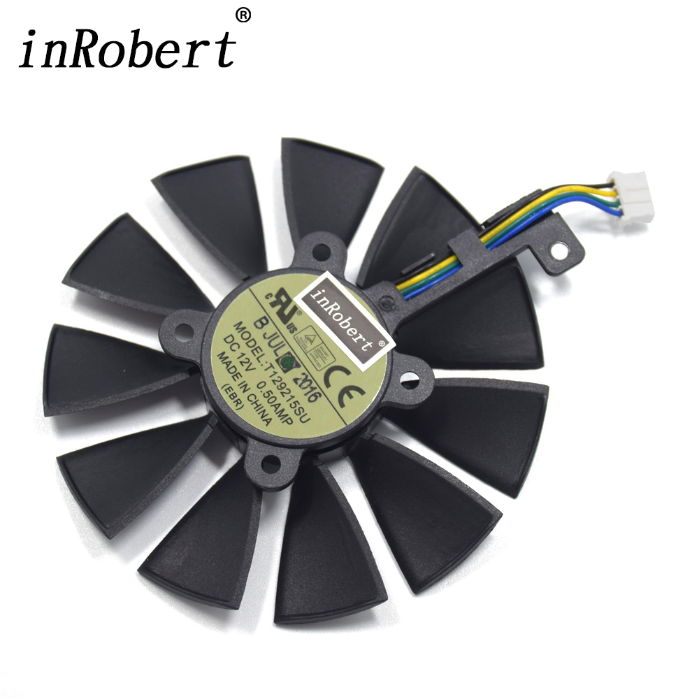 Everflow 87MM T129215SU 4Pin 0.50A Cooling Fan For GTX 980 Ti GTX 1050 1060 1080 1070 RX 480 470 Graphics Card Cooler Fans 100%new gtx780ti public version of the graphics card independent 3g seconds 970 980 1070 1080 1060 rx470 480
