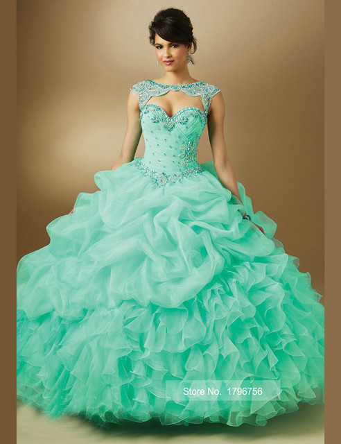 c7f52386e6 vestido de 15 anos curto 2016 New Purple Quinceanera Dresses Mint Pink Lilac  Organza Ball Gowns Sweet 15 Green Prom Dresses