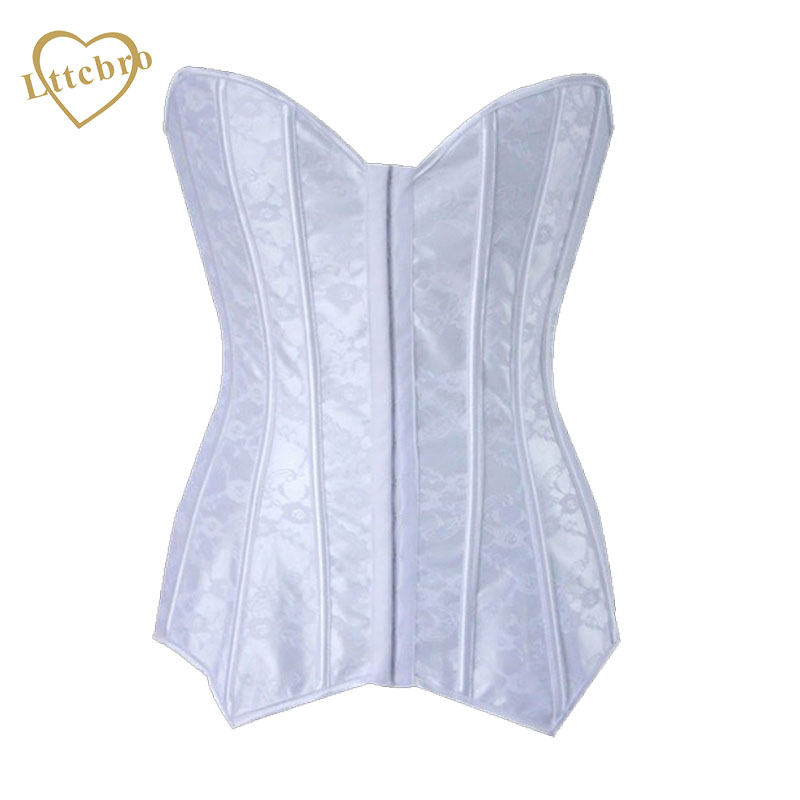b30dc806880 Woman Lace Corset Bodice Sexy Women Wedding Dress Bustier Bone Lace Bustier  Corset Corselet Lace Up Lingerie Shapewear White-in Bustiers   Corsets from  ...