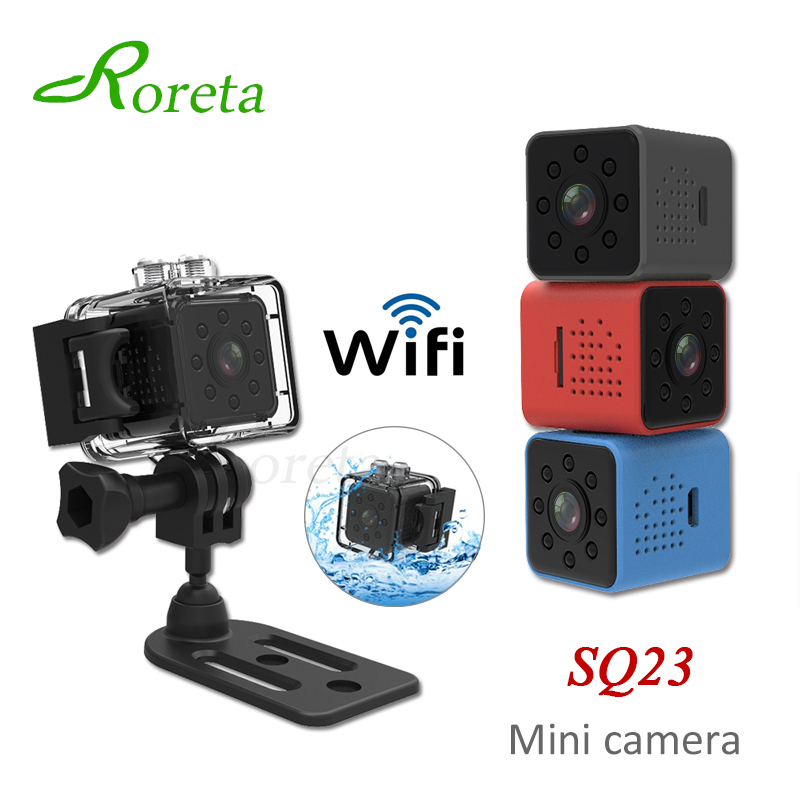 Roreta Camera Small Camcorder Video-Sensor Night-Vision Wifi Mini SQ23 1080P HD title=
