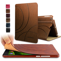 Leather Case Cover For Apple IPad Mini 4 Case With Flip Stand Fashion Business Tablet Case
