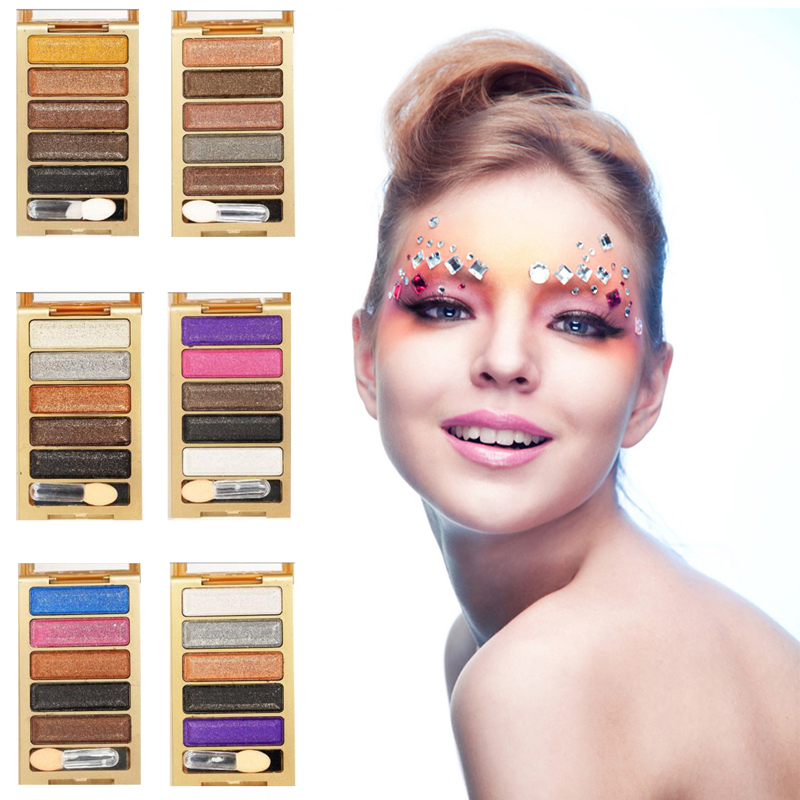 1Pc Makeup Eyeshadow Palette Naked Glitter Eyeshadow Smoky Eye Shadow maquiagem paleta Shining Eye Shadow 5 Colors Y1-5