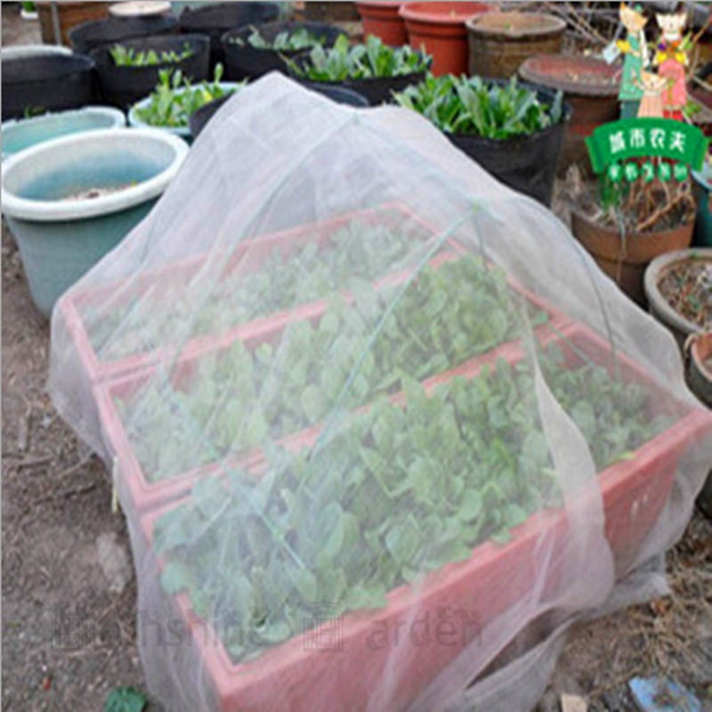Tewango 40Mesh Insect Netting Garden Vegetables Protection 2M Width x5M Length 6 5x16 4 FT For