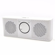2016 Altavoz Bluetooth MP3 Reproductor de Música Portátil Radio FM Estéreo doble Entrada de Altavoz con TF Tarjeta de Disco USB de Regalo Para los padres