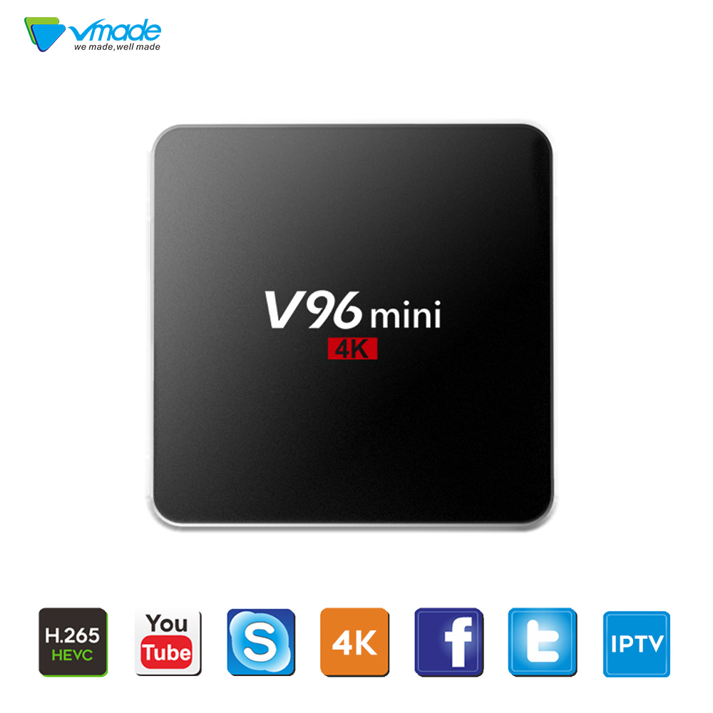 i8 Mini Keyboard+Android 7.1 OS Original V96 Allwinner H3 Support Bluetooth YouTube IPTV H.265 / HEVC Smart TV Box Media Player(China)