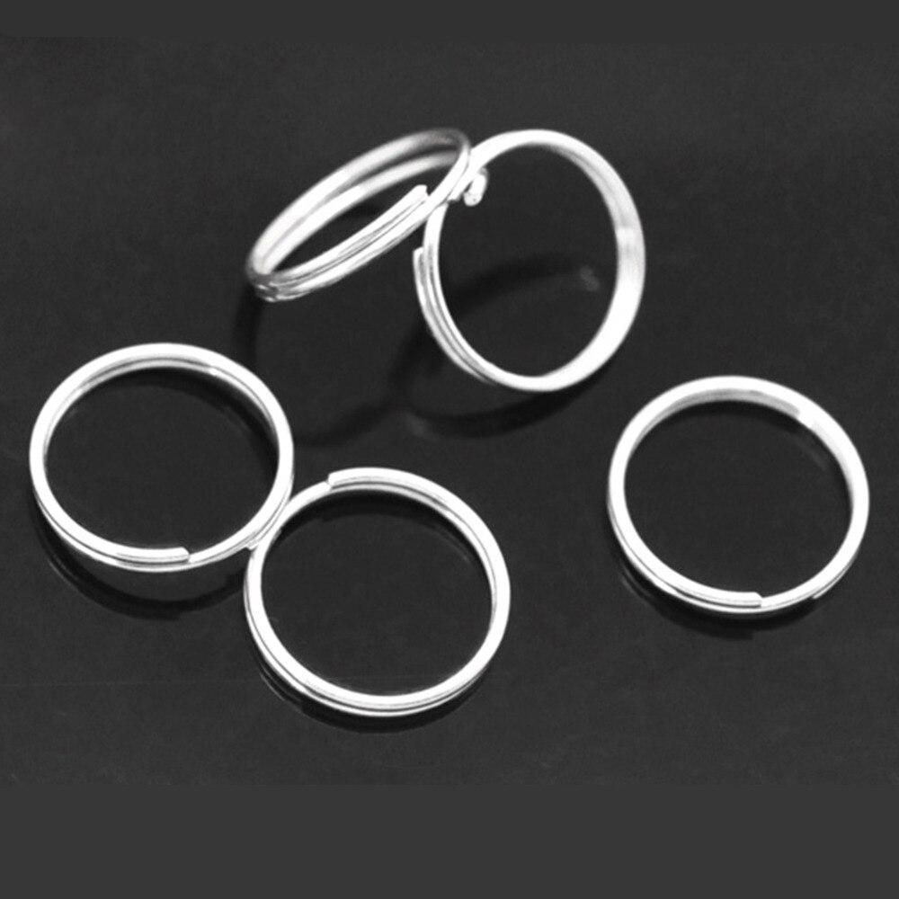 где купить Doreen Box Lovely 300 PCs Silver color Double Loops Open Jump Rings 12mm Dia. Findings (B04159) по лучшей цене