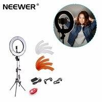 Neewer 36 Вт 5500 К 35 см светодиодные кольца и Осветительные стойки Освещение комплект W/мягкий фильтр, горячий башмак адаптер, bluetooth приемник US/EU