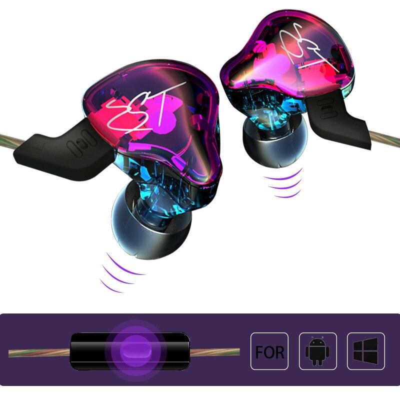 Original Earphone 1DD+1BA Hybrid Drive HiFi Earphone Running KZ ZST Sport Headphone Super Bass For iPhone 6s Xiaomi MP3 Headsets