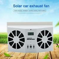 Interior Auto Air Vent Solar Powered Cool Fan Ventilation System Dual Fan Ventilator Solar Automobile Accessories Mini Fan