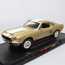 Road Signature vintage 1968 Ford Shelby Mustang GT-500KR Muscle race diecast 1 18 scale metal model cars & vehicles toy Replica