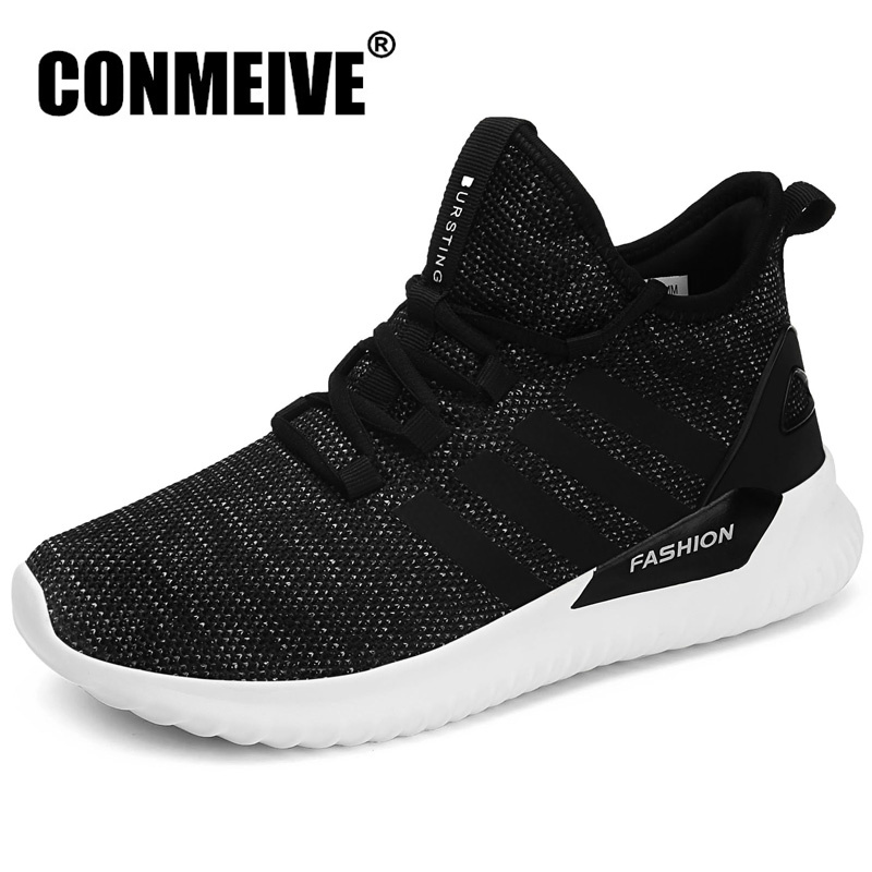 Autumn Winter Fashion Designer Black Sneakers Breathable Casual Mens Shoes Lace-up Man Trainers Brand Luxury Hot Sale Shoes Men