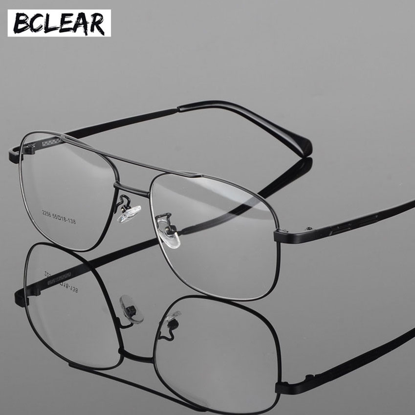 BCLEAR Alloy Full Rim High Quality Eyeglasses Frame for Men and Women Optical Eyewear Frame Spectacles Black Gray Gold Silver