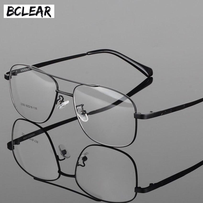 BCLEAR Alloy Full Rim High Quality Eyeglasses Frame For Men And Women Optical Eyewear Frame Spectacles Black Gray Gold Silver