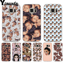 Yinuoda Kimoji Kardashian kanye west noord kylie jenner Telefoon Case voor samsung galaxy S9 plus S7 rand S6 rand plus S5 s8 plus(China)