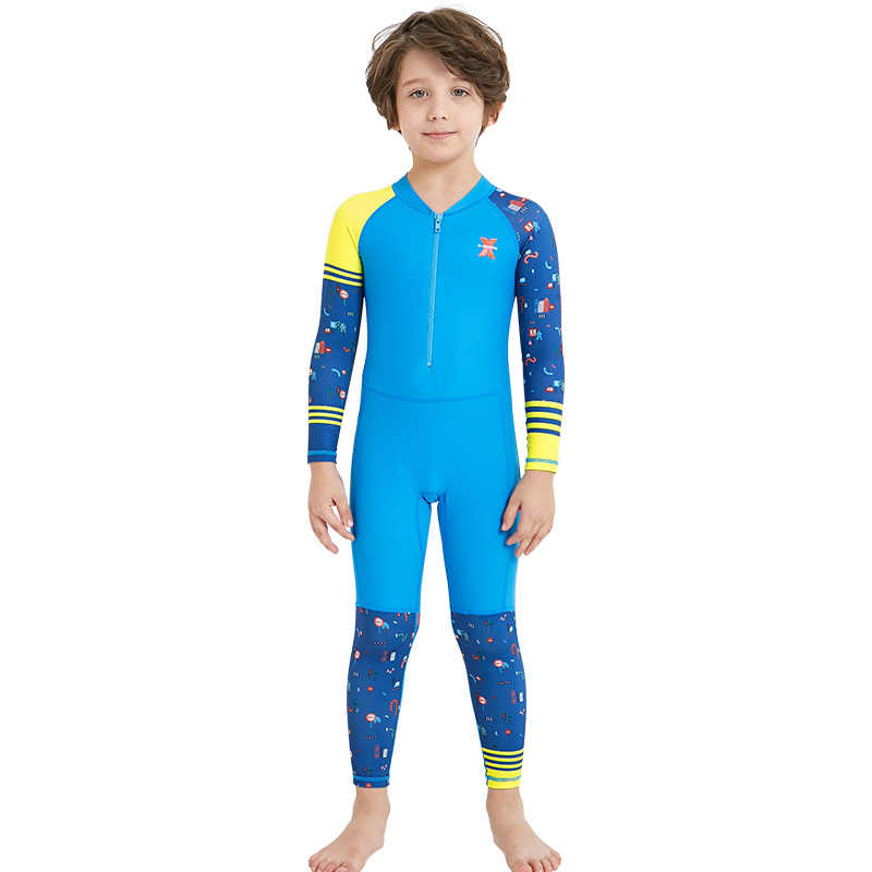 14fd2aaa80f0d ... Lycra Dive Skin Wetsuit for Kids Boys Girls One Piece Swimsuit Full  Body Sun UV Protection ...
