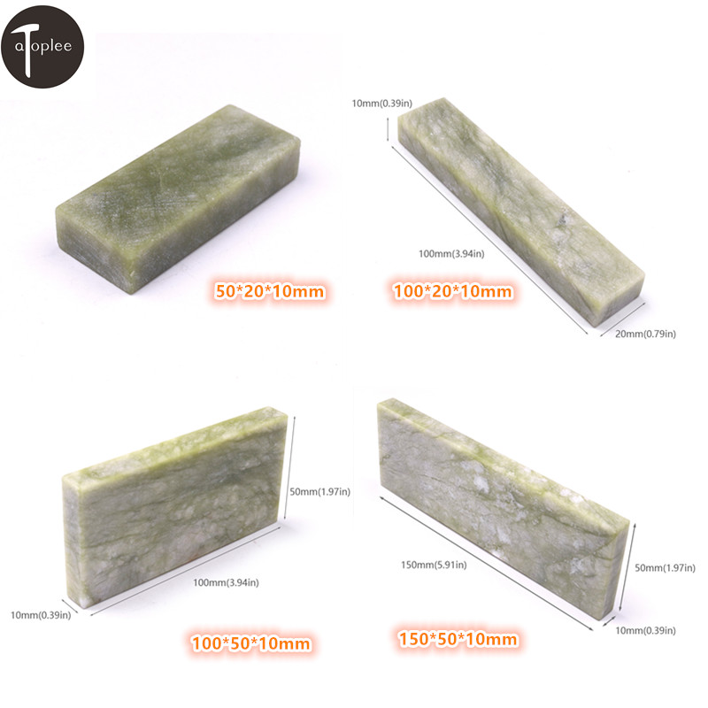 1PC Grit 10000# Nature Jade Knife Sharpener OilStone Sharpening Polishing Tool 50*20*10mm 100*20*10mm 100*50*10mm 150*50*10mm