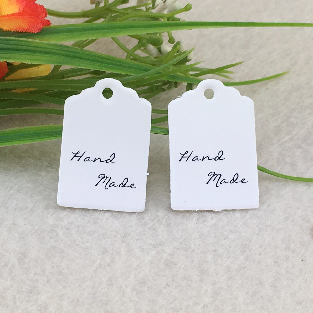 100pcs/lot 3x2cm Blank Kraft Hang Paper Gift Tags Wedding Party ...
