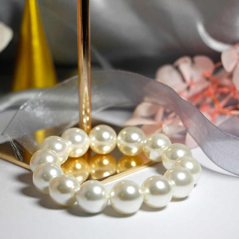 Jakość Shell bransoletka perłowa elastyczna lub łańcuszkowa konfigurowalne damskie bransoletki o różnych rozmiarach