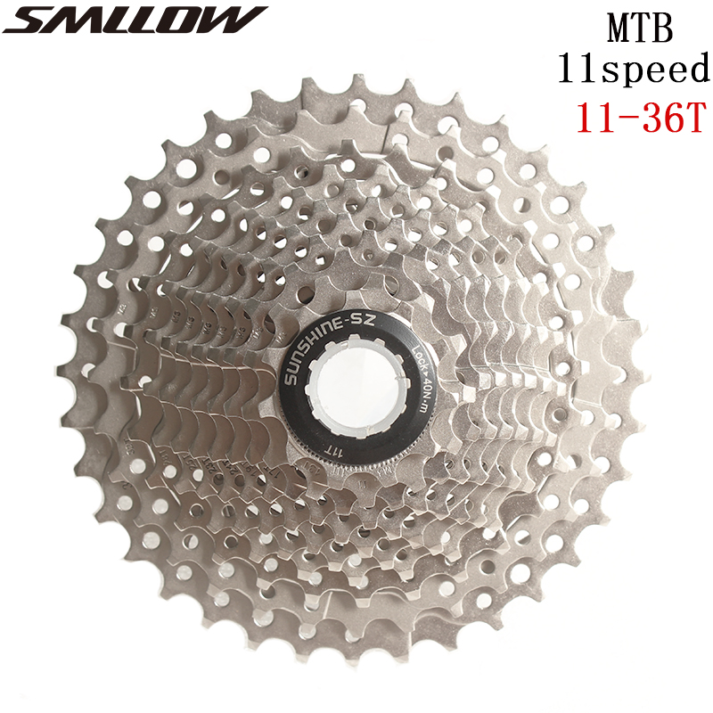 SUNSHINE-SZ Bicycle 11Speed 11- <font><b>36T</b></font> Freewheel 11s Cassette Road Bike MTB <font><b>Sprocket</b></font> for UT DA K7 GX RIVAL1 Force1 1X system CX image