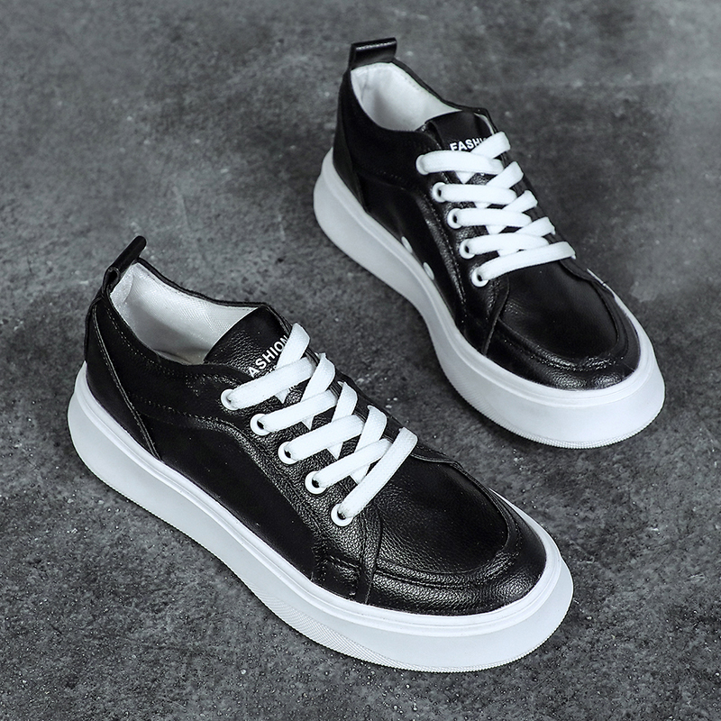 Women Sneakers 2018 Fashion Breathble Vulcanized Shoes Women Pu leather  Platform Shoes Women Lace up Casual Shoes White Sneaker-in Women s  Vulcanize Shoes ... 87daa05a80a7