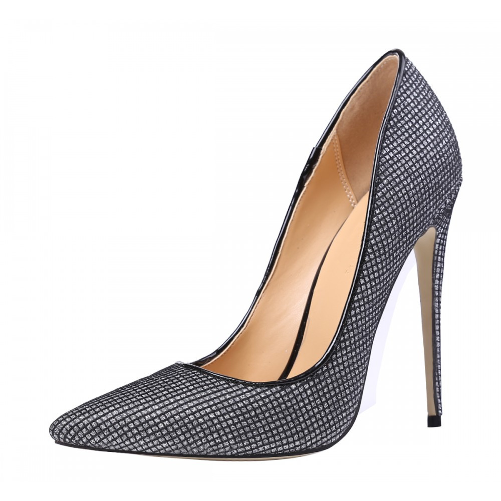 THEMOST New Fashion Shoes Sequins Super High Heels Stiletto Party Wedding Pumps Glittering Pointed Toe Big