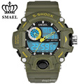 SMAEL Dual Movement Sports Watches Men Electronic Digital Analog Shockproof Silicone Watch Waterproof Wristwatches for Mens