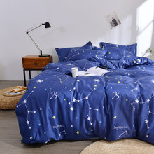 Home Textile Galaxy Star Bed Linen Constellation Duvet Cover Bedding Set Twin Full Queen King Size 3/4Pcs Pillowcases Bed Sheet(China)