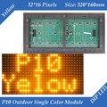 P10 Открытый Янтарный/Желтый цвет СВЕТОДИОДНЫЙ дисплей модуль 320*160 мм 32*16 пикселей водонепроницаемый высокой яркости для текста сообщения во главе знак