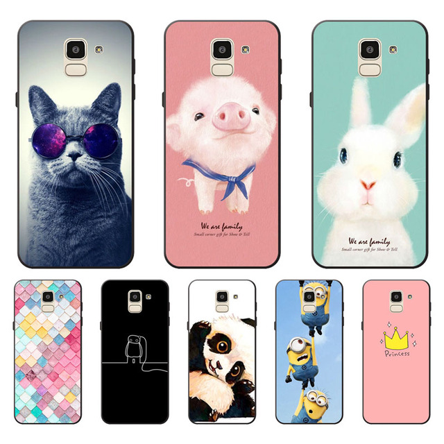 more photos 5d7b2 10772 US $1.36 9% OFF|For Samsung Galaxy J6 2018 Case,Silicon Painted animals  Painting TPU Back Cover for Galaxy J6 2018 protect Phone cases shell-in  Fitted ...