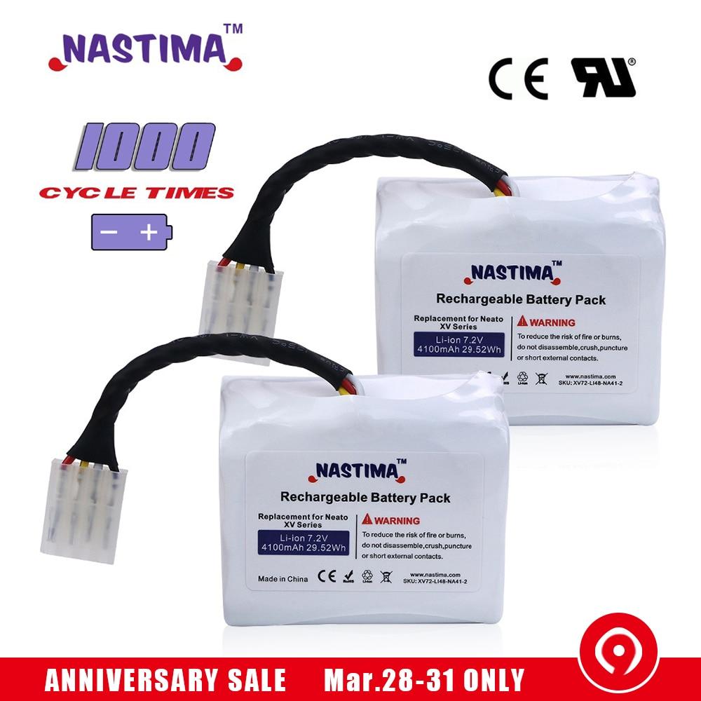 7 2V 4100mAh 2pcs Li ion Battery For Neato XV battery XV11 XV12 XV14 XV15 XV21