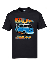 Back to the Future Marty Spoof Tshirts Island Time Machine Car Bus Funny Design T Shirt New Clothing Pure Cotton