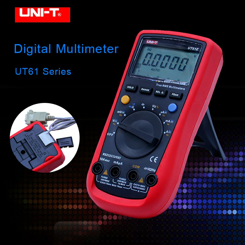 UNI-T UT61E Digital Multimeter PC Connect AC DC Voltage Meter Data Hold Mode 22000 Display Count LCD Screen High Reliability цены