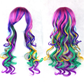 5pcs/lot Wholesale Women's Long Curly Synthetic Ladies Cosplay Sexy None Lace Hair Costume Full  Wigs