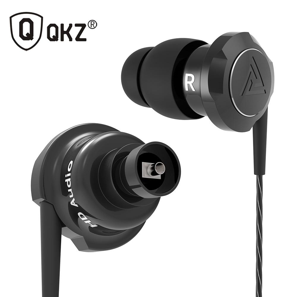 Newest QKZ KD5 Double Unit Drive In Ear Earphone 1DD+1BA Hybrid EarphoneHIFI DJ Monito Running Sport Earphone Headset Earbud