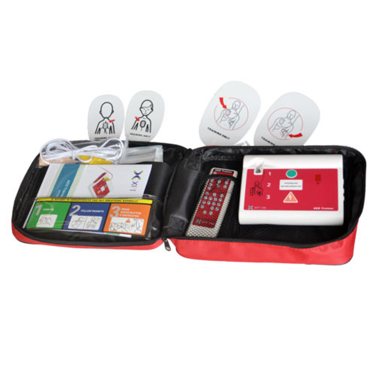 1 set AED formateur automatique défibrillateur externe simulateur Patient Machine de premiers soins rcr école compétence Traning anglais et espagnol - 4