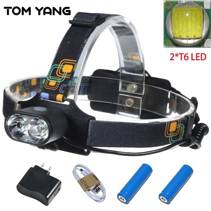 10000 LM USB Charge Cree XM-L T6 Headlamp 2*T6 LED Powerful Focus Head Light 3 Modes Self Defense Camp Head Lampe LED Headlight фонарик xml cree xm l t6 1300 3 1853 page 3