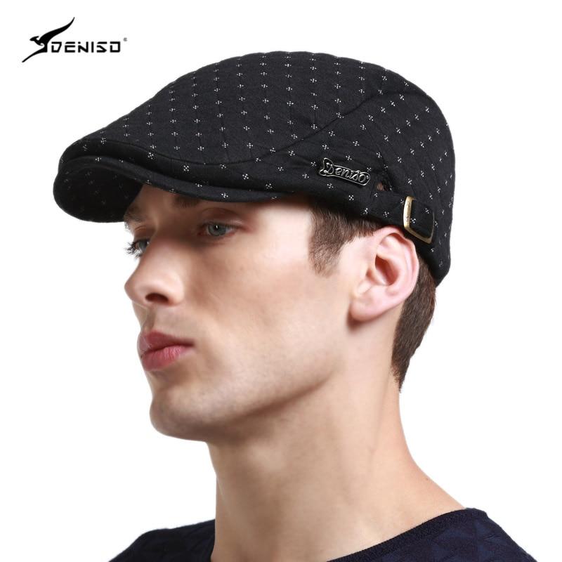 Spring and summer fashion men s Hat Beret peaked cap male Korean cap  British baseball cap hat. 0c88f56ce9f