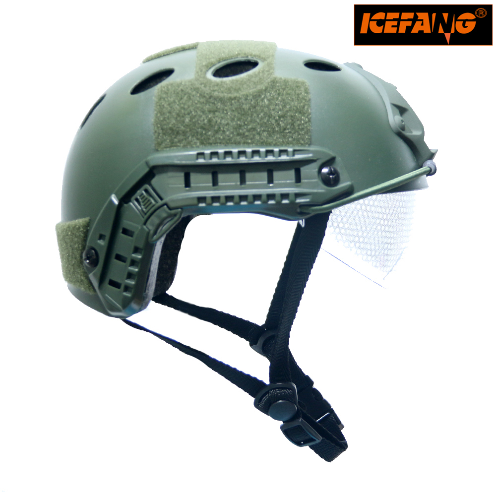 Outdoor Helmet Military Sports Helmets tactical Helmet for CS Airsoft Paintball Game Safety Helmet with Windproof Goggle