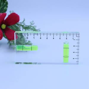 HACCURY High Precision Bubble Level Transparent Two Directions Submit Levels Square Column Spirit Level Size 100*50*15mm
